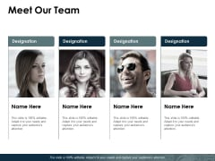 Meet Our Team Ppt PowerPoint Presentation Pictures Slides