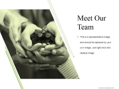 Meet Our Team Ppt PowerPoint Presentation Pictures Vector
