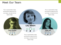Meet Our Team Ppt PowerPoint Presentation Portfolio Display