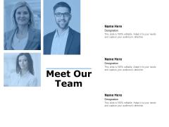 meet our team ppt powerpoint presentation portfolio example introduction