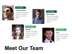 Meet Our Team Ppt PowerPoint Presentation Portfolio Example