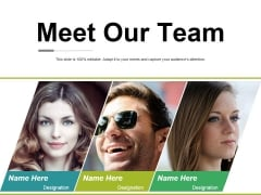Meet Our Team Ppt PowerPoint Presentation Portfolio Gallery