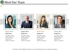 Meet Our Team Ppt PowerPoint Presentation Portfolio Images