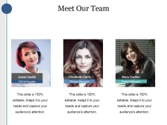 Meet Our Team Ppt PowerPoint Presentation Portfolio Infographic Template
