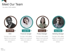 Meet Our Team Ppt PowerPoint Presentation Portfolio Professional