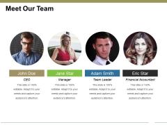 Meet Our Team Ppt PowerPoint Presentation Portfolio Themes