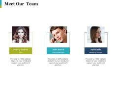 Meet Our Team Ppt PowerPoint Presentation Professional Ideas