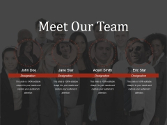 Meet Our Team Ppt PowerPoint Presentation Show Outfit