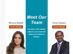 Meet Our Team Ppt PowerPoint Presentation Slides