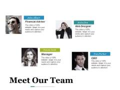 Meet Our Team Ppt PowerPoint Presentation Summary Visuals