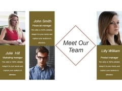 Meet Our Team Ppt PowerPoint Presentation Templates