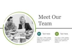 Meet Our Team Ppt PowerPoint Presentation Themes