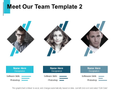 Meet Our Team Template Ppt PowerPoint Presentation Icon Deck