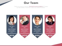 Meet Our Team Webpage Design Powerpoint Slides