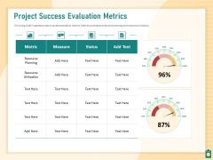 Meet Project Deadlines Through Priority Matrix Project Success Evaluation Metrics Ideas PDF