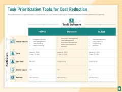 Meet Project Deadlines Through Priority Matrix Task Prioritization Tools For Cost Reduction Designs PDF