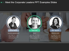 Meet The Corporate Leaders Ppt PowerPoint Presentation Topics