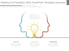 Meeting And Facilitation Skills Powerpoint Templates Download