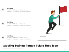 Meeting Business Targets Future State Icon Ppt PowerPoint Presentation Pictures Show PDF