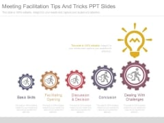 Meeting Facilitation Tips And Tricks Ppt Slides
