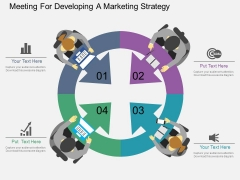 Meeting For Developing A Marketing Strategy Powerpoint Template