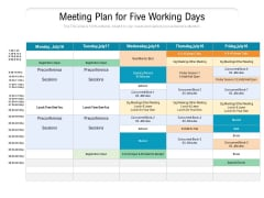 Meeting Plan For Five Working Days Ppt PowerPoint Presentation Pictures Format Ideas PDF