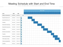 Meeting Schedule With Start And End Time Ppt PowerPoint Presentation File Designs PDF