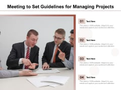 Meeting To Set Guidelines For Managing Projects Ppt PowerPoint Presentation Infographic Template Format Ideas PDF