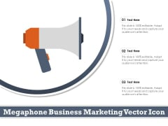 Megaphone Business Marketing Vector Icon Ppt PowerPoint Presentation Infographics Styles PDF