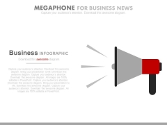 Megaphone For Business And Marketing News PowerPoint Slides