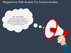 Megaphone With Bubble For Communication Powerpoint Templates