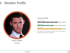 Member Profile Ppt PowerPoint Presentation Design Ideas