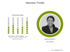 Member Profile Ppt PowerPoint Presentation Information