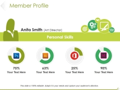 Member Profile Ppt PowerPoint Presentation Layouts Styles