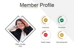 Member Profile Ppt PowerPoint Presentation Slides Deck