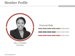 Member Profile Ppt PowerPoint Presentation Topics