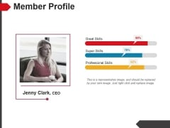 Member Profile Template 1 Ppt PowerPoint Presentation Ideas Background Image