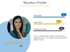 Member Profile Template 1 Ppt PowerPoint Presentation Infographic Template Vector