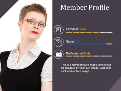 Member Profile Template 2 Ppt PowerPoint Presentation Infographic Template Templates