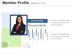 Member Profile Template 2 Ppt PowerPoint Presentation Show Good