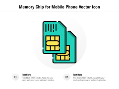 Memory Chip For Mobile Phone Vector Icon Ppt PowerPoint Presentation Styles Topics PDF
