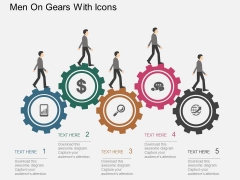 Men On Gears With Icons Powerpoint Templates