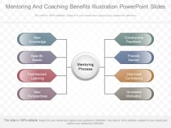 Mentoring And Coaching Benefits Illustration Powerpoint Slides