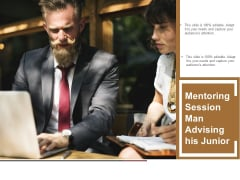 Mentoring Session Man Advising His Junior Ppt PowerPoint Presentation Infographic Template Templates