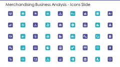 Merchandising Business Analysis Icons Slide Ppt Gallery Example PDF