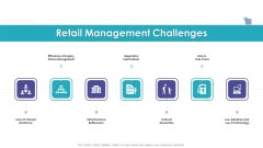 Merchandising Business Analysis Retail Management Challenges Ppt Gallery Files PDF