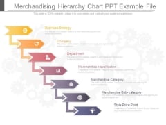 Merchandising Hierarchy Chart Ppt Example File