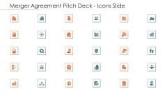 Merger Agreement Pitch Deck Icons Slide Icons PDF