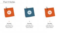 Merger Agreement Pitch Deck Post It Notes Elements PDF