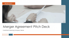 Merger Agreement Pitch Deck Ppt PowerPoint Presentation Complete Deck With Slides